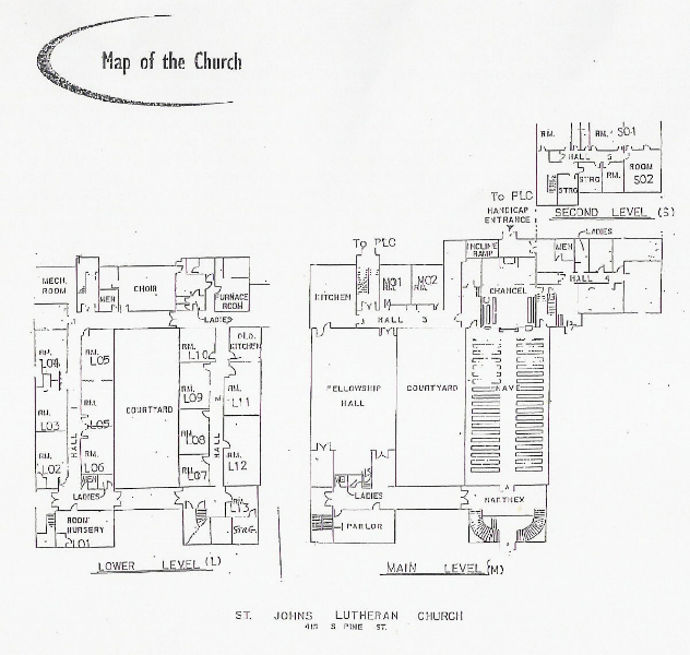 map of church